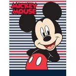Plaid Couverture Mickey Stripes Disney