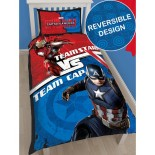 Parure de lit Captain America vs Iron-man