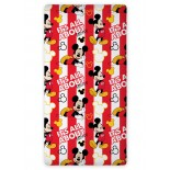 Drap housse Mickey Mousse Rouge Disney
