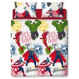 Parure de lit double Avengers Marvel Comics Mission