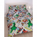 Parure de lit king avengers marvel comics reversible