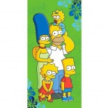 Serviette de bain The Simpsons Famille