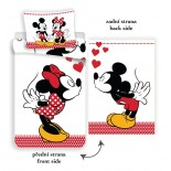 Mickey et Minnie Disney - Parure de lit I Love You