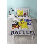 Pokemon Pikatchu - Parure de lit Ready Battle