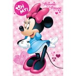 Plaid Couverture Minnie Spot Disney
