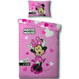 Parure de lit Minnie Rose Disney