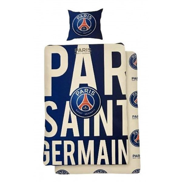 psg football parure de lit housse de couette 1001 nuits enchant es. Black Bedroom Furniture Sets. Home Design Ideas