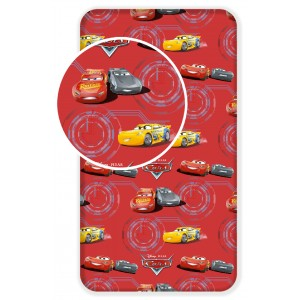 Cars Disney Red - Drap Housse Coton Rouge