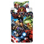 The Avengers and Friends - Parure de Lit Enfant - Housse de Couette Coton