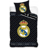 Real Madrid Black - Parure de Lit Football - Housse de Couette Coton