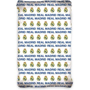 Real Madrid Football - Drap Housse Coton - Literie 90 x 200 cm