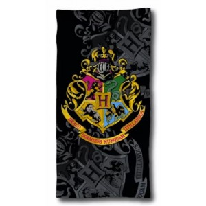 Harry Potter Black - Serviette de Bain - Drap de Plage Coton