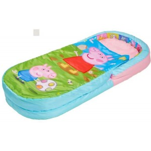 Peppa Pig - Sac de Couchage Gonflable Nature - Lit d'Appoint